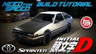getlinkyoutube.com-Need for Speed 2015 | Initial D Toyota Sprinter Trueno GT-APEX AE86 Build Tutorial | How To Make