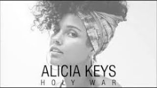 HOLY WAR - ALICIA KEYS  karaoke version ( no vocal ) lyric