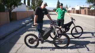 getlinkyoutube.com-Stealth Bomber VS. HPC XC-2 4500W Electric Bike Comparison and Race