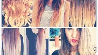 getlinkyoutube.com-Como hacer las mechas californianas en casa, Ombre hair!