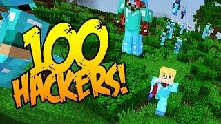 getlinkyoutube.com-100 HACKERS ON MY SERVER! (Minecraft Purge EP2)