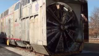 getlinkyoutube.com-3000 HP Union Pacific Rotary Snow Plow - Heaviest Ever Made - 16 Cylinder