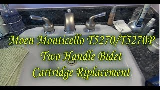 Plumbing Repairs: How To Replace Moen T5270/T5270P Monticello Two Handle Bidet Cartridge