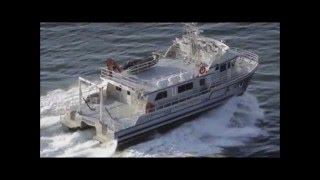 getlinkyoutube.com-Aluminum catamaran workboat