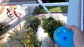 getlinkyoutube.com-WATER BALLOONING STRANGERS!