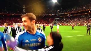getlinkyoutube.com-Ivanovic grabs and squeezes Eva Carneiro (hot Chelsea physio) in Europa league Final