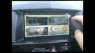 "getlinkyoutube.com-Opel astra H with custom 7"" screen (navi)"