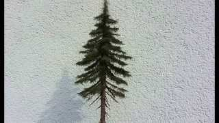 getlinkyoutube.com-Building realistic model trees : Part 2 (spruce/conifer) - Modellbäume selber bauen