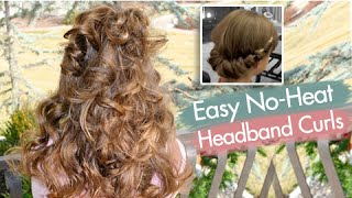 getlinkyoutube.com-Headband Curls | Easy No-Heat Curls | Cute Girls Hairstyles