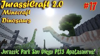 Minecraft Dinosaurs JurassiCraft 2.0 Ep17 Jurassic Park San Diego Pt13 Apatasaurus