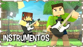 INSTRUMENTOS NO MINECRAFT - Build Battle