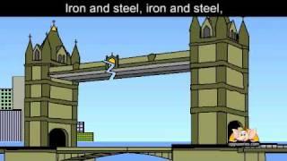 getlinkyoutube.com-London Bridge with lyrics and sing along option