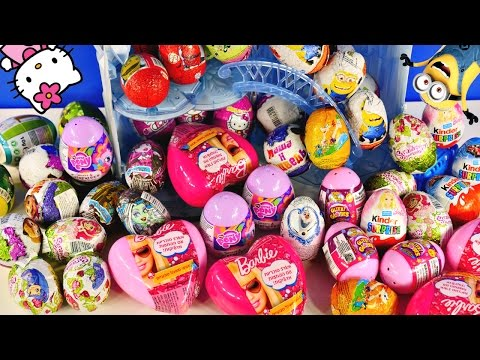 EGG COLLECTION - Power Puff Girls Barbie Chuggington Kinder Eggs Frozen MLP Cars Glitzi Globes Toys