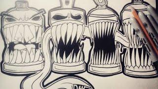 getlinkyoutube.com-Comment dessiner Bombes de Peinture Graffiti