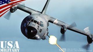 getlinkyoutube.com-AC-130ガンシップ・世界最強の対地攻撃機 40mm機関砲・105mm榴弾砲発射 - AC-130 Gunship