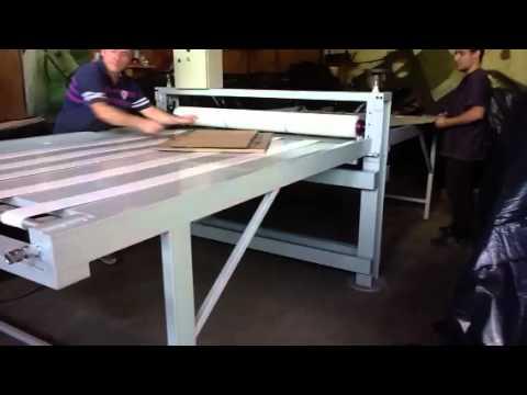 Maquina corte vinco plana para cartonagem de papelão tipo J