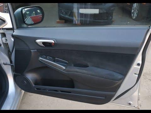 Снятие карты передней правой двери Honda Civic 2010