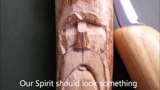 getlinkyoutube.com-Carving a simple wood spirit
