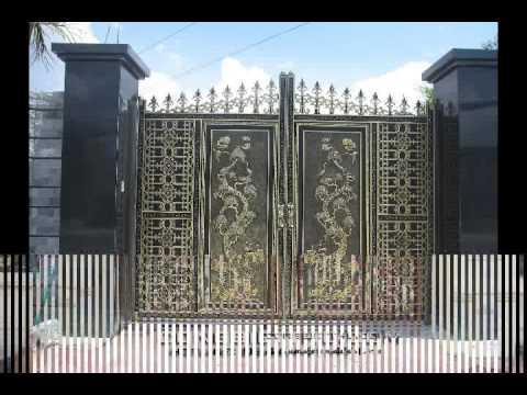 Cổng nhôm đúc, cổng nhà đẹp, biệt thự đẹp, mẫu biệt thự đẹp, cổng sắt đẹp