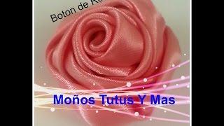 getlinkyoutube.com-Paso a Paso BOTON DE ROSA Satinada pap RIBBON ROSE BUD Tutorial DIY Cinta Satin