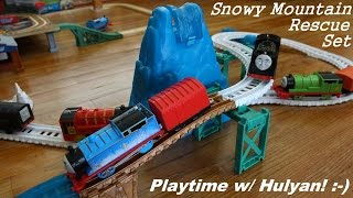 getlinkyoutube.com-ALL NEW Thomas Trackmaster Snowy Mountain Rescue Set Playtime