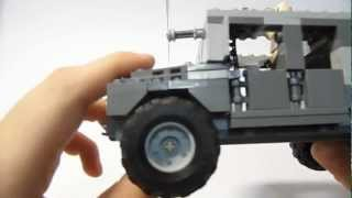getlinkyoutube.com-Lego Military MOC Humvee Gadgets, Functions and small building guide