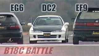 "getlinkyoutube.com-[ENG CC] B18C Battle - ""Phase"" Integra R DC2 vs. ""K shift"" Civic EG6 & EF9 HV43"