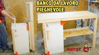 getlinkyoutube.com-Banco da lavoro pieghevole fai da te - Folding workbench