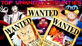 One Piece - Top 30 Unknown Bounties 2017 - Theory (Wanted ワンピース 懸賞金)