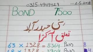Prize Bond 7500 City Hyderabad Tulk Akra Roteen (2 5 2018)