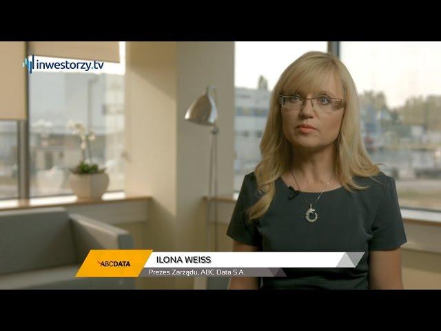 Ilona Weiss, Prezes Zarządu, ABC Data S. A., #1 PREZENTACJE WYNIKÓW