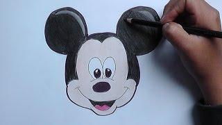 getlinkyoutube.com-Dibujando la cara de Mickey Mouse - Drawing the face of Mickey Mouse