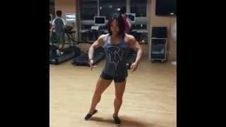 getlinkyoutube.com-Asian girl with impressive biceps 4