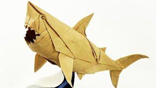 getlinkyoutube.com-Origami Great White Shark - Nguyen Ngoc Vu - Super Complex