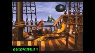 getlinkyoutube.com-Donkey Kong Country 7% Run in 8:38 (World Record)