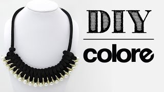 getlinkyoutube.com-DIY: Collar Gamuza Tubular Trenzada - Colore Accesorios