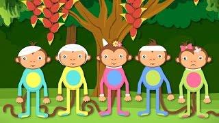 getlinkyoutube.com-Five Little Monkeys Jumping On The Bed | Children Nursery Rhyme | Songs