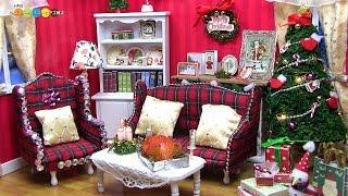 getlinkyoutube.com-Miniature Dollhouse kit Christmas Room ドールハウスキット ミニチュアクリスマスルーム作り