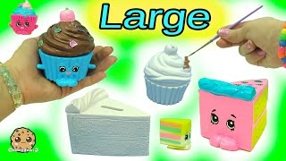 getlinkyoutube.com-Big Large Inspired Shopkins Made From Cupcake & Cake Slice DIY Painting Craft Kit + Clay