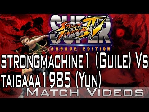 strongmachine1 (Guile) Vs taigaaa1985 (Yun) SSF4 AE 2012 Match Video 1080p HD Super Street Fighter 4
