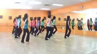 getlinkyoutube.com-Irish Polka - Line Dance (Dance & Teach in English & 中文)