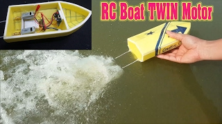 getlinkyoutube.com-How To Make mini RC Boat Twin 180 Motor