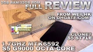"getlinkyoutube.com-S5 G9000 OctaCore 1.7GHz [REVIEW] 2GB RAM/16GB ROM MTK6592 1920x1080 5.2"" FHD IPS DUALSIM"