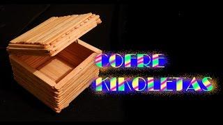 getlinkyoutube.com-Cómo hacer un cofre baúl con palitos de paleta kikoletas TUTORIAL Inerya viris