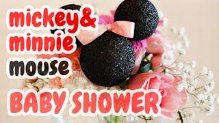 getlinkyoutube.com-50 Adornos para Baby Shower Tema: Mickey & Minnie Mouse y más HD