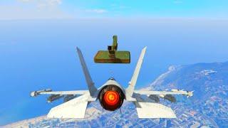FLOATING FORTRESS JET BATTLE! (GTA 5 Funny Moments)