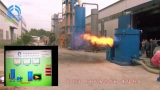 getlinkyoutube.com-PLC automatic control Biomass sawdust burner, wood dust combustion burner, sawdust pyrolysis burner