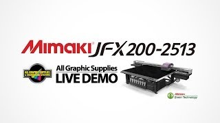 Live Demo: Mimaki JFX200-2513 UV Flatbed