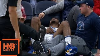 Nick Young Injury / GS Warriors vs Timberwolves