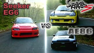 getlinkyoutube.com-[ENG CC] Seeker EG6 vs. Bandoe AE86 vs. Spirits MRS Touge 200 HV81